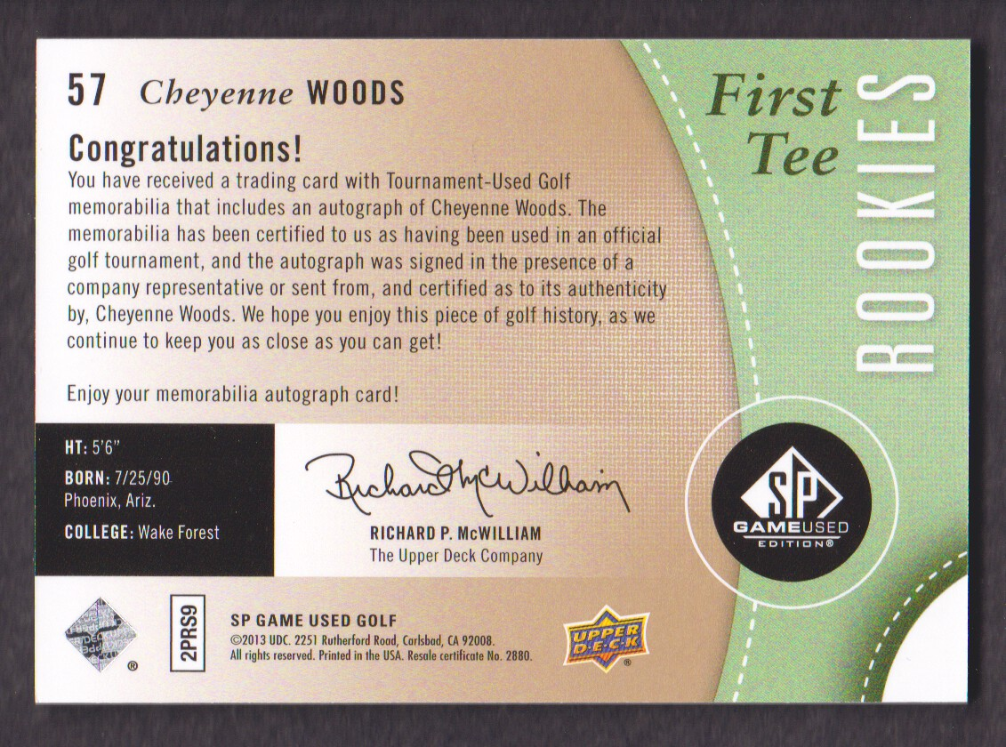 2014-SP-Game-Used-Edition-Golf-Cards-Pick-From-List miniature 79