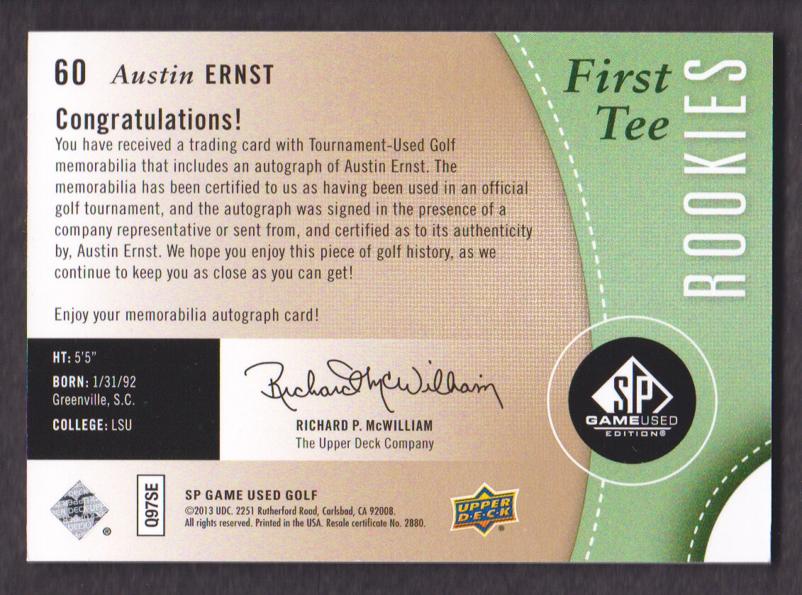 2014-SP-Game-Used-Edition-Golf-Cards-Pick-From-List miniature 81