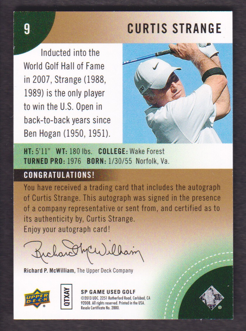 2014-SP-Game-Used-Edition-Golf-Cards-Pick-From-List miniature 145