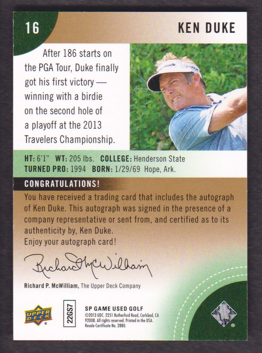 2014-SP-Game-Used-Edition-Golf-Cards-Pick-From-List miniature 147
