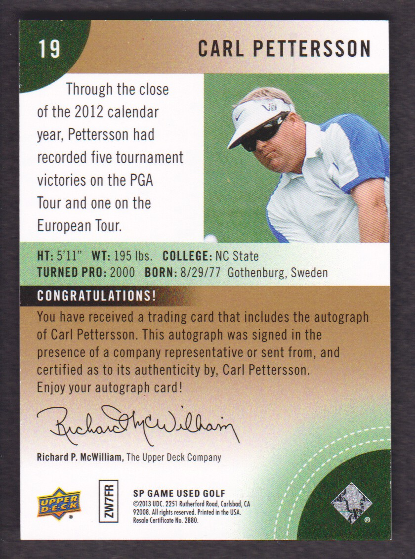 2014-SP-Game-Used-Edition-Golf-Cards-Pick-From-List miniature 149