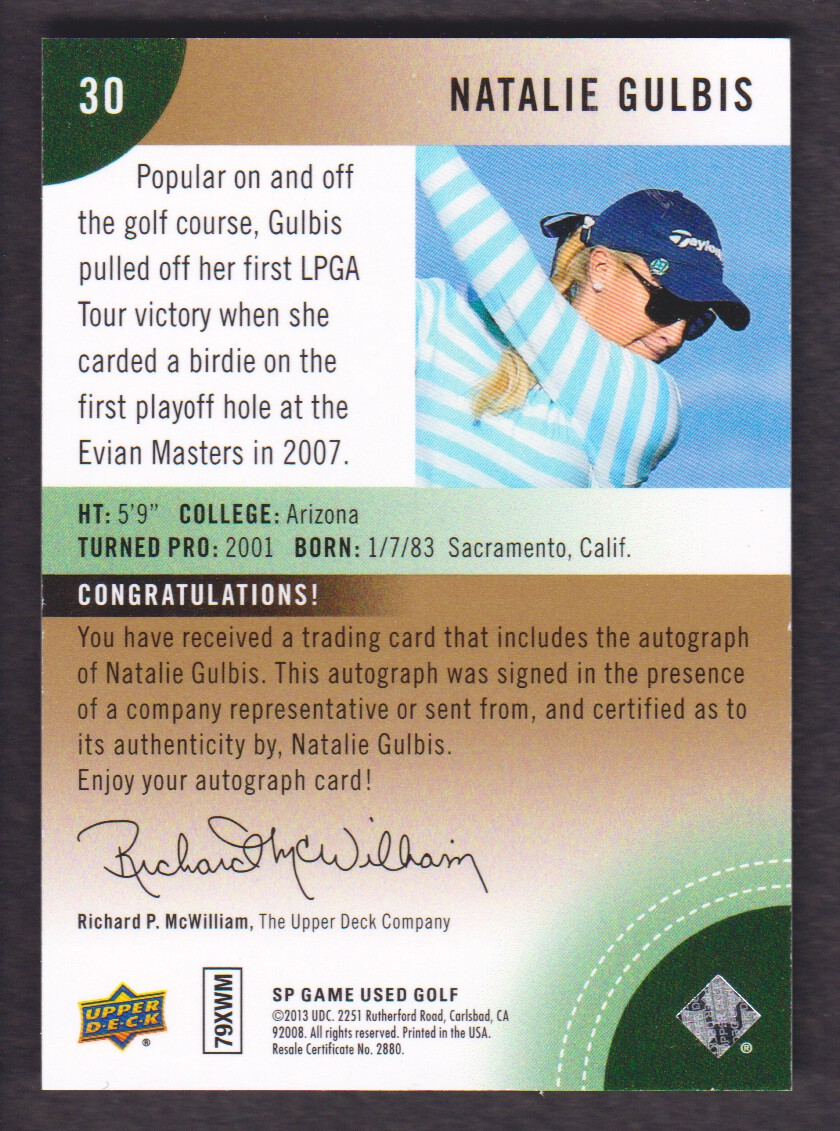 2014-SP-Game-Used-Edition-Golf-Cards-Pick-From-List miniature 151