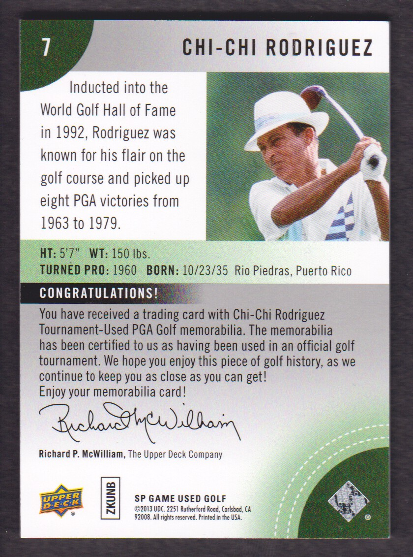 2014-SP-Game-Used-Edition-Golf-Cards-Pick-From-List miniature 155