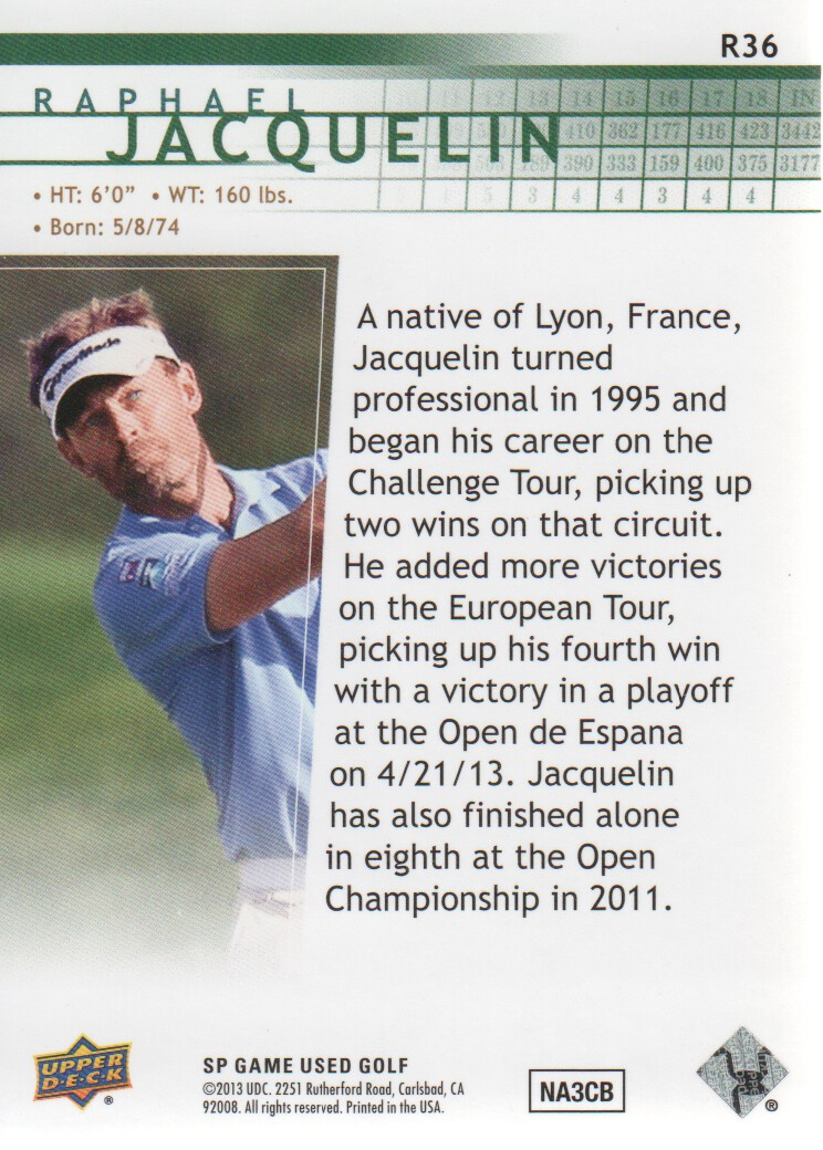 2014-SP-Game-Used-Edition-Golf-Cards-Pick-From-List miniature 101