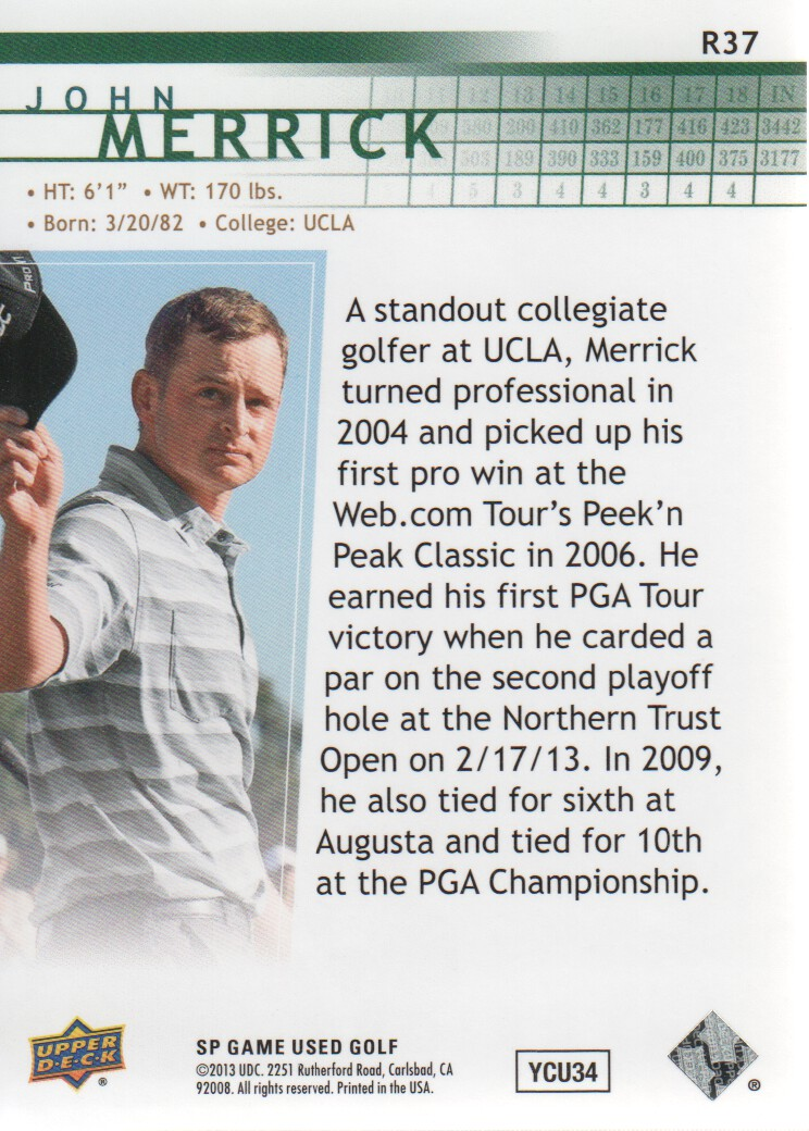 2014-SP-Game-Used-Edition-Golf-Cards-Pick-From-List miniature 103