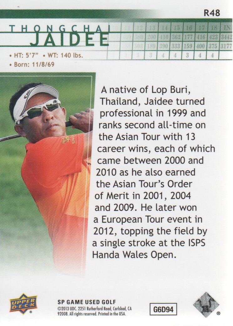 2014-SP-Game-Used-Edition-Golf-Cards-Pick-From-List miniature 121