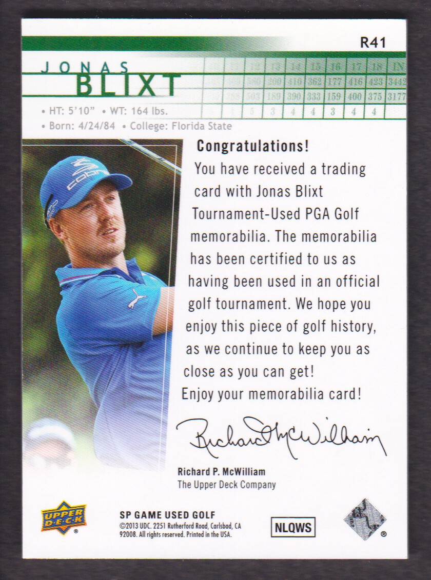 2014-SP-Game-Used-Edition-Golf-Cards-Pick-From-List miniature 139