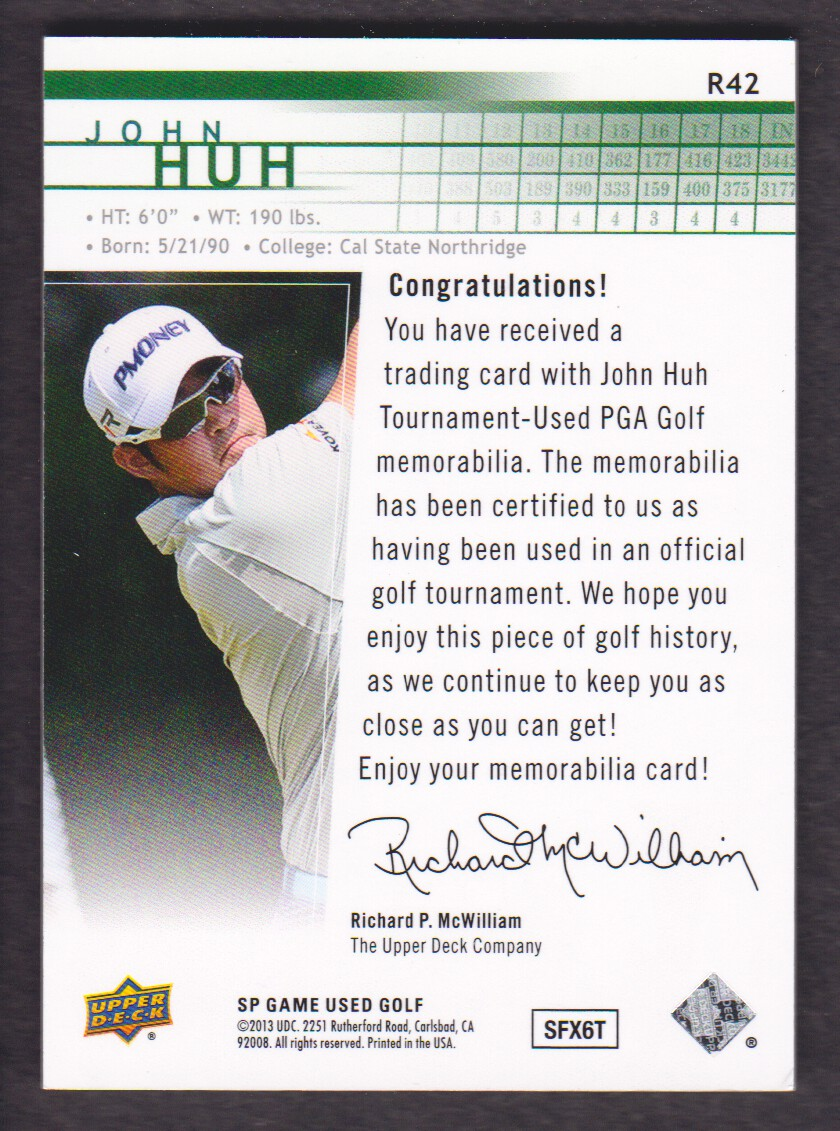 2014-SP-Game-Used-Edition-Golf-Cards-Pick-From-List miniature 141