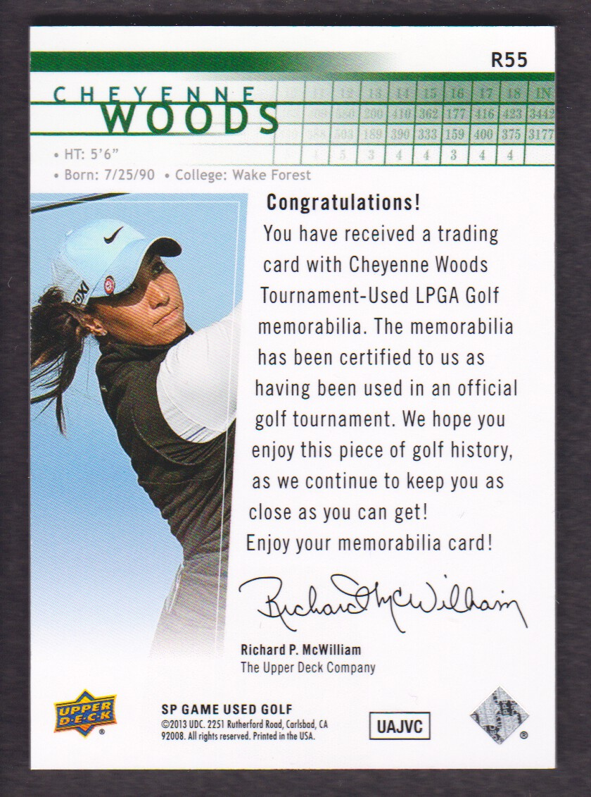2014-SP-Game-Used-Edition-Golf-Cards-Pick-From-List miniature 143