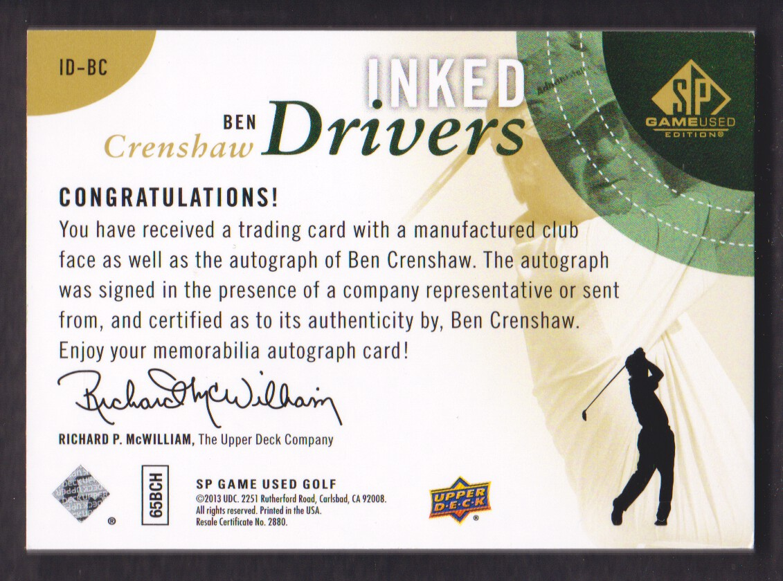 2014-SP-Game-Used-Edition-Golf-Cards-Pick-From-List miniature 83