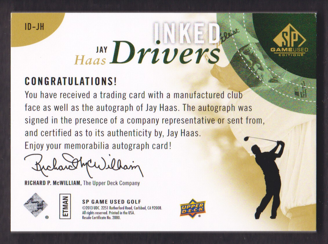 2014-SP-Game-Used-Edition-Golf-Cards-Pick-From-List miniature 85
