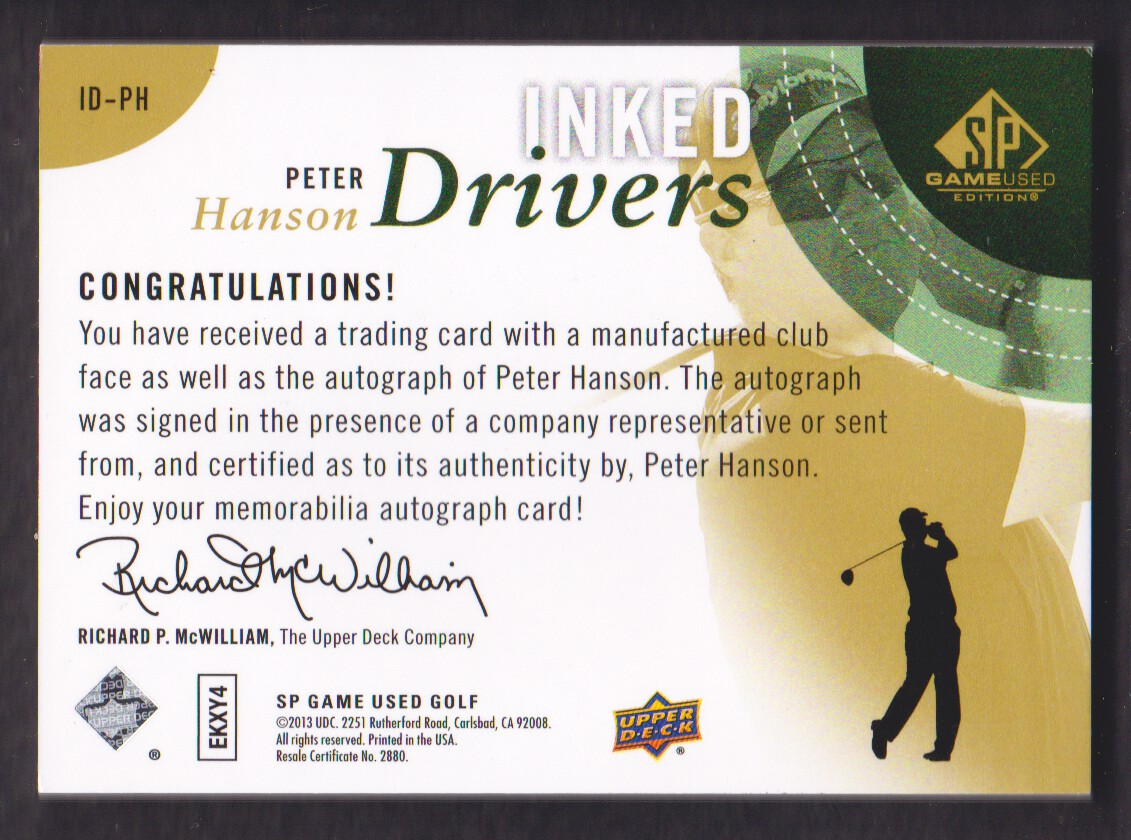 2014-SP-Game-Used-Edition-Golf-Cards-Pick-From-List miniature 87