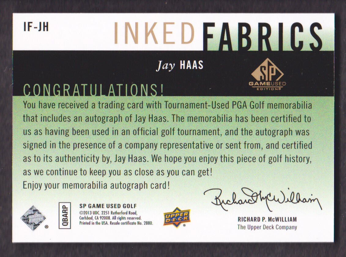 2014-SP-Game-Used-Edition-Golf-Cards-Pick-From-List miniature 89