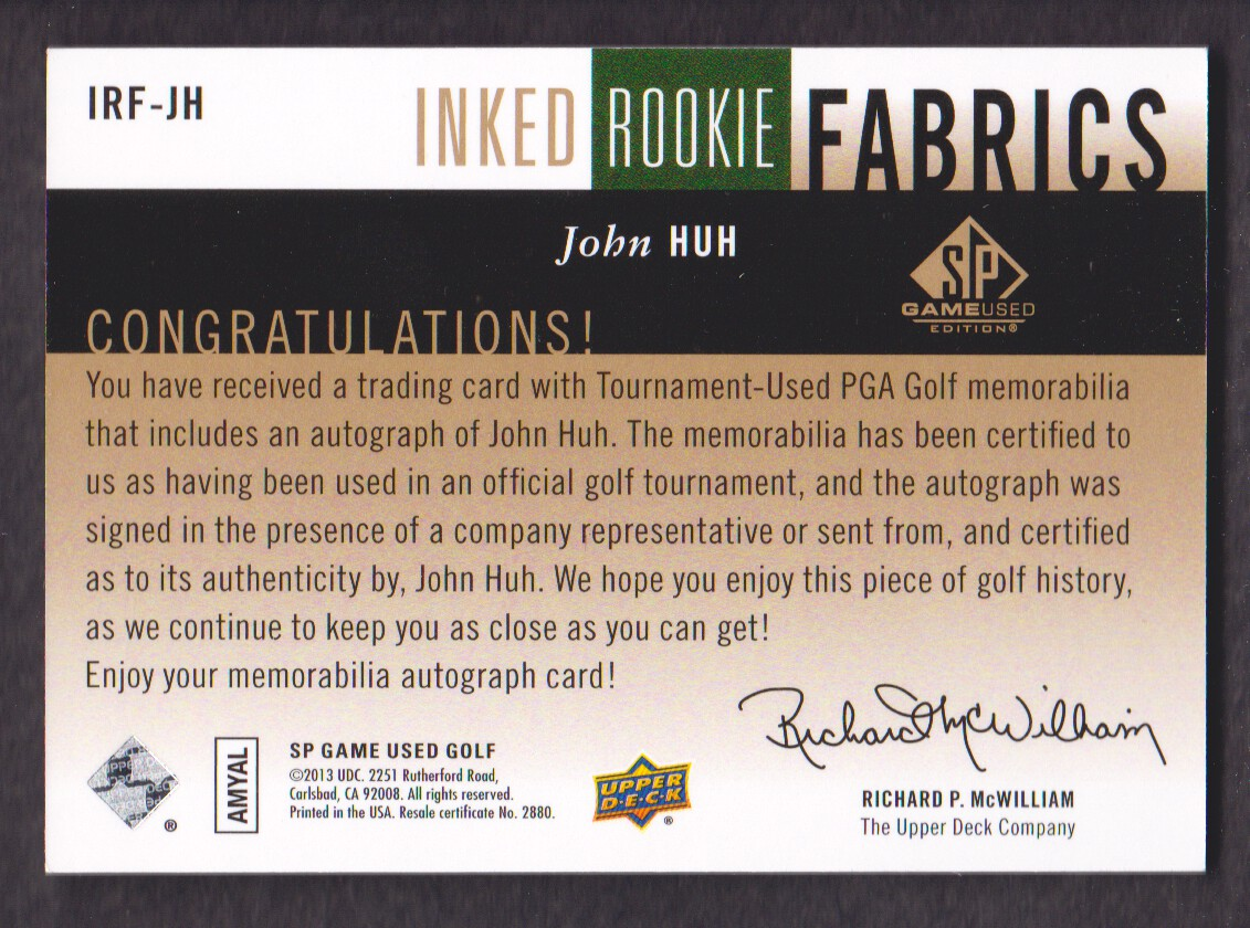 2014-SP-Game-Used-Edition-Golf-Cards-Pick-From-List miniature 93