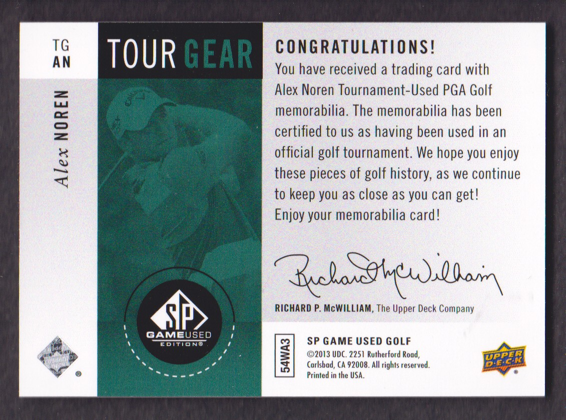 2014-SP-Game-Used-Edition-Golf-Cards-Pick-From-List miniature 157