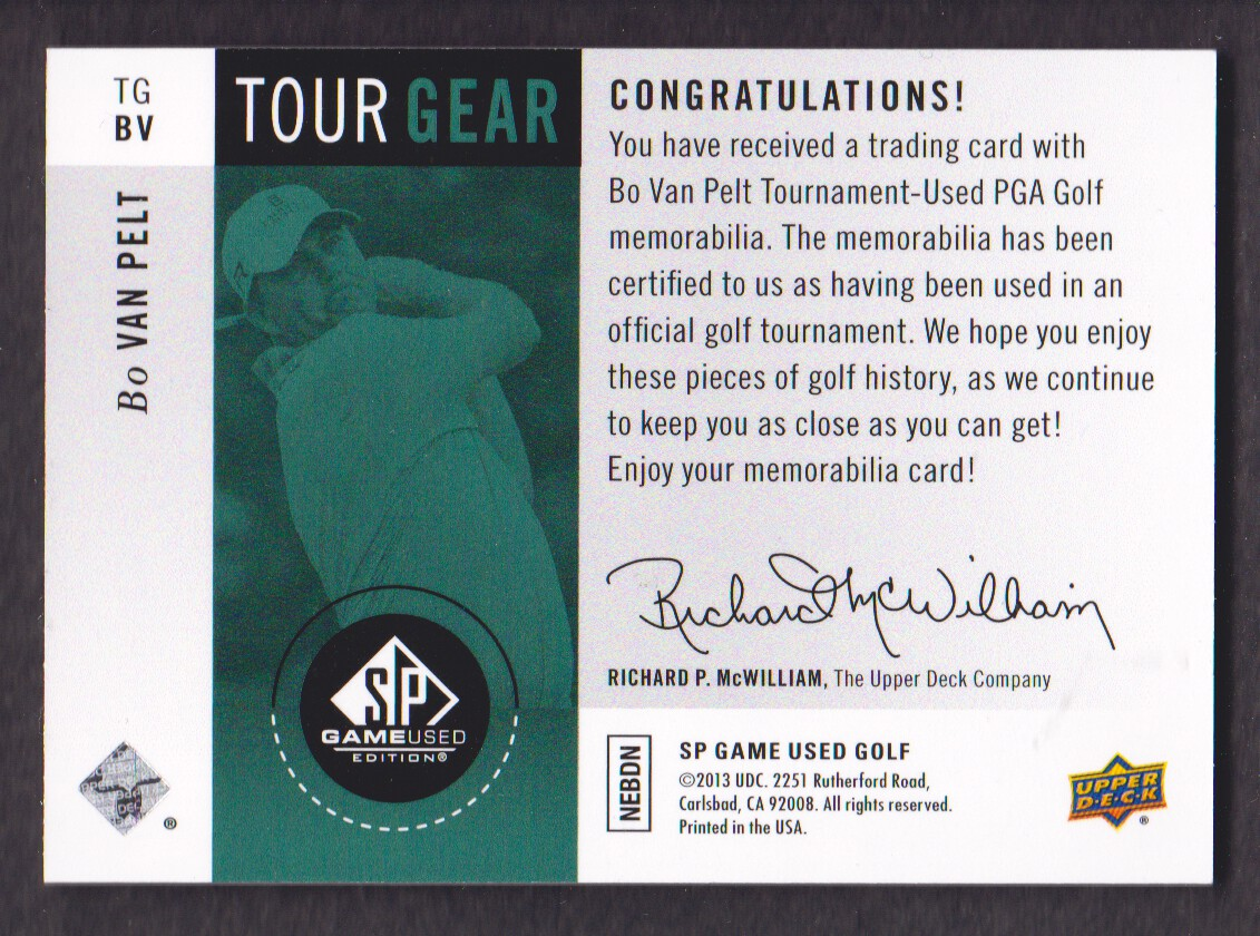 2014-SP-Game-Used-Edition-Golf-Cards-Pick-From-List miniature 159