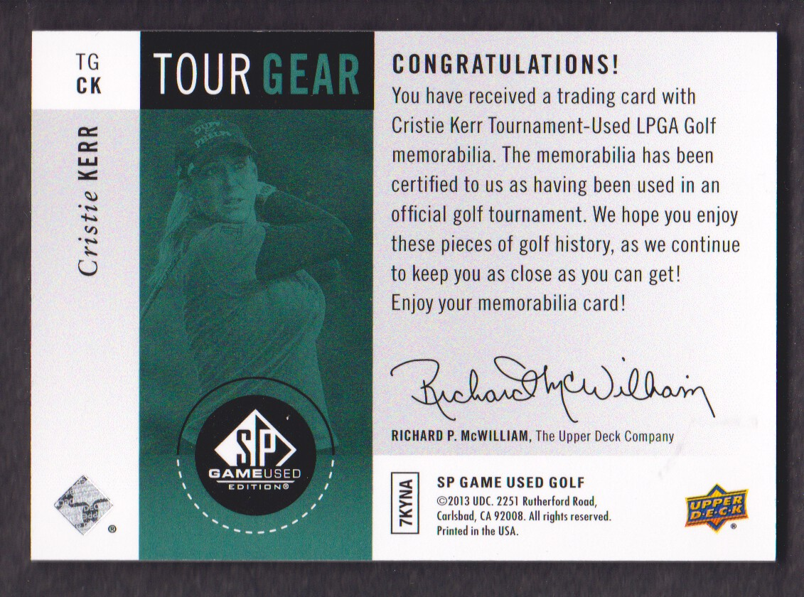 2014-SP-Game-Used-Edition-Golf-Cards-Pick-From-List miniature 161