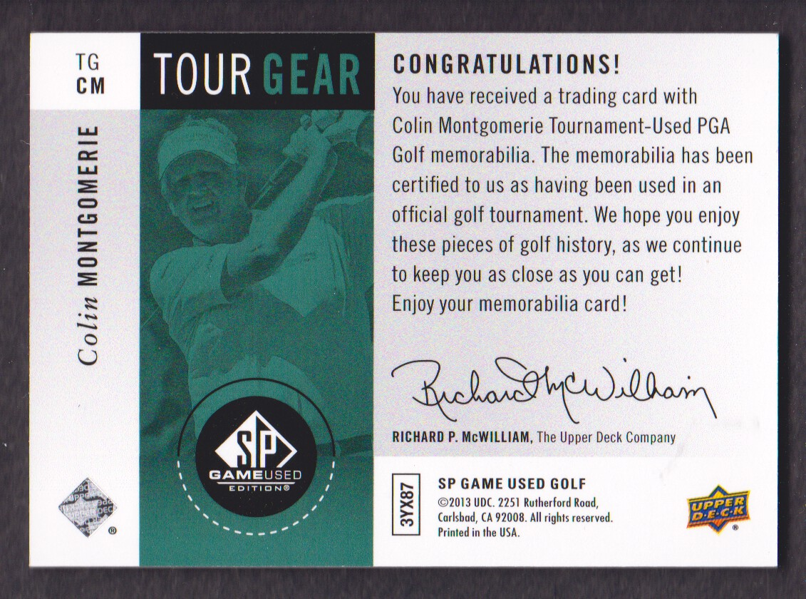 2014-SP-Game-Used-Edition-Golf-Cards-Pick-From-List miniature 163