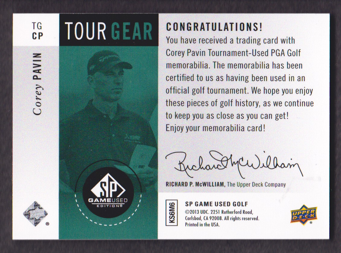 2014-SP-Game-Used-Edition-Golf-Cards-Pick-From-List miniature 165
