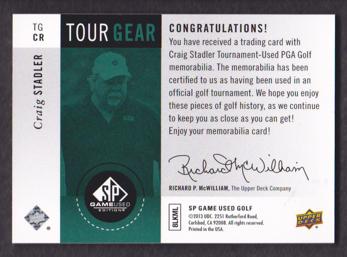 2014-SP-Game-Used-Edition-Golf-Cards-Pick-From-List miniature 167
