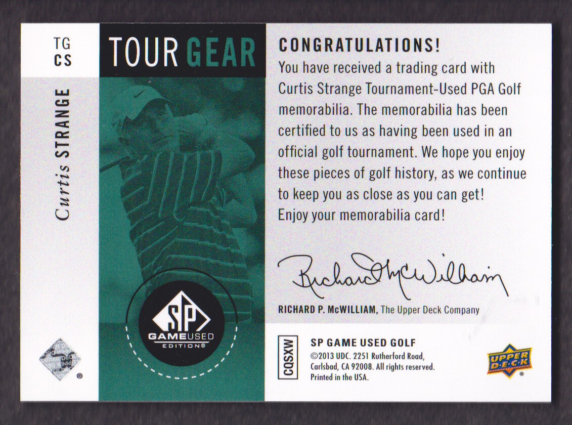 2014-SP-Game-Used-Edition-Golf-Cards-Pick-From-List miniature 169