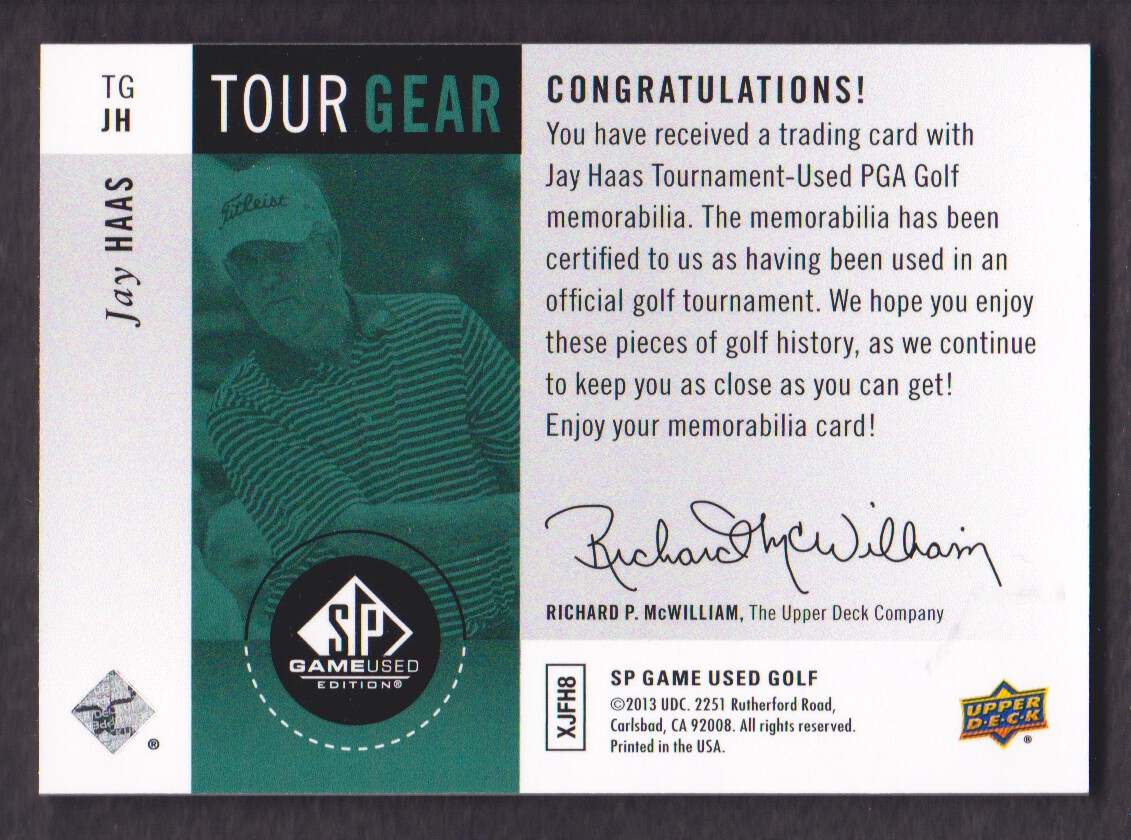 2014-SP-Game-Used-Edition-Golf-Cards-Pick-From-List miniature 173
