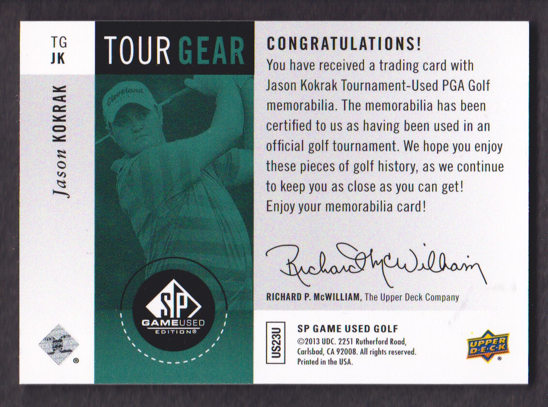 2014-SP-Game-Used-Edition-Golf-Cards-Pick-From-List miniature 175