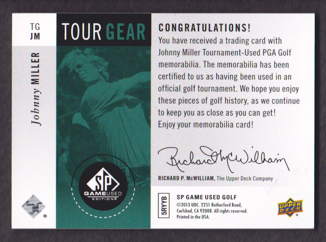 2014-SP-Game-Used-Edition-Golf-Cards-Pick-From-List miniature 177