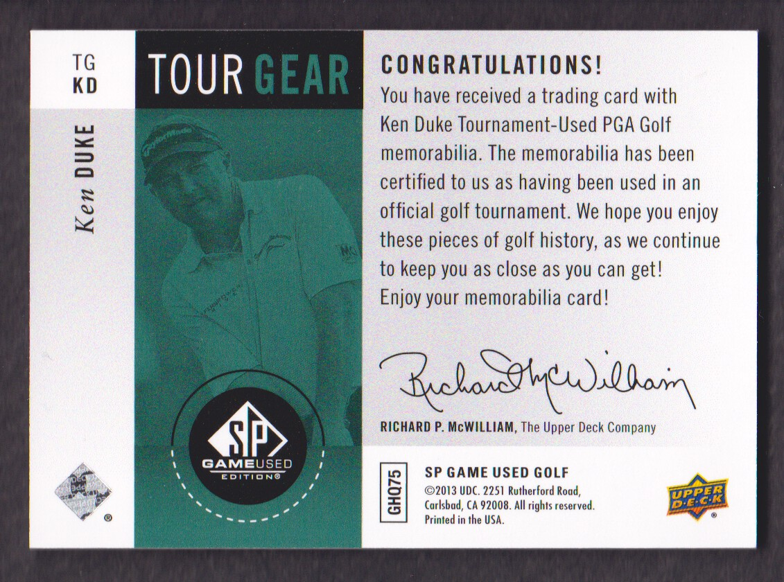 2014-SP-Game-Used-Edition-Golf-Cards-Pick-From-List miniature 179