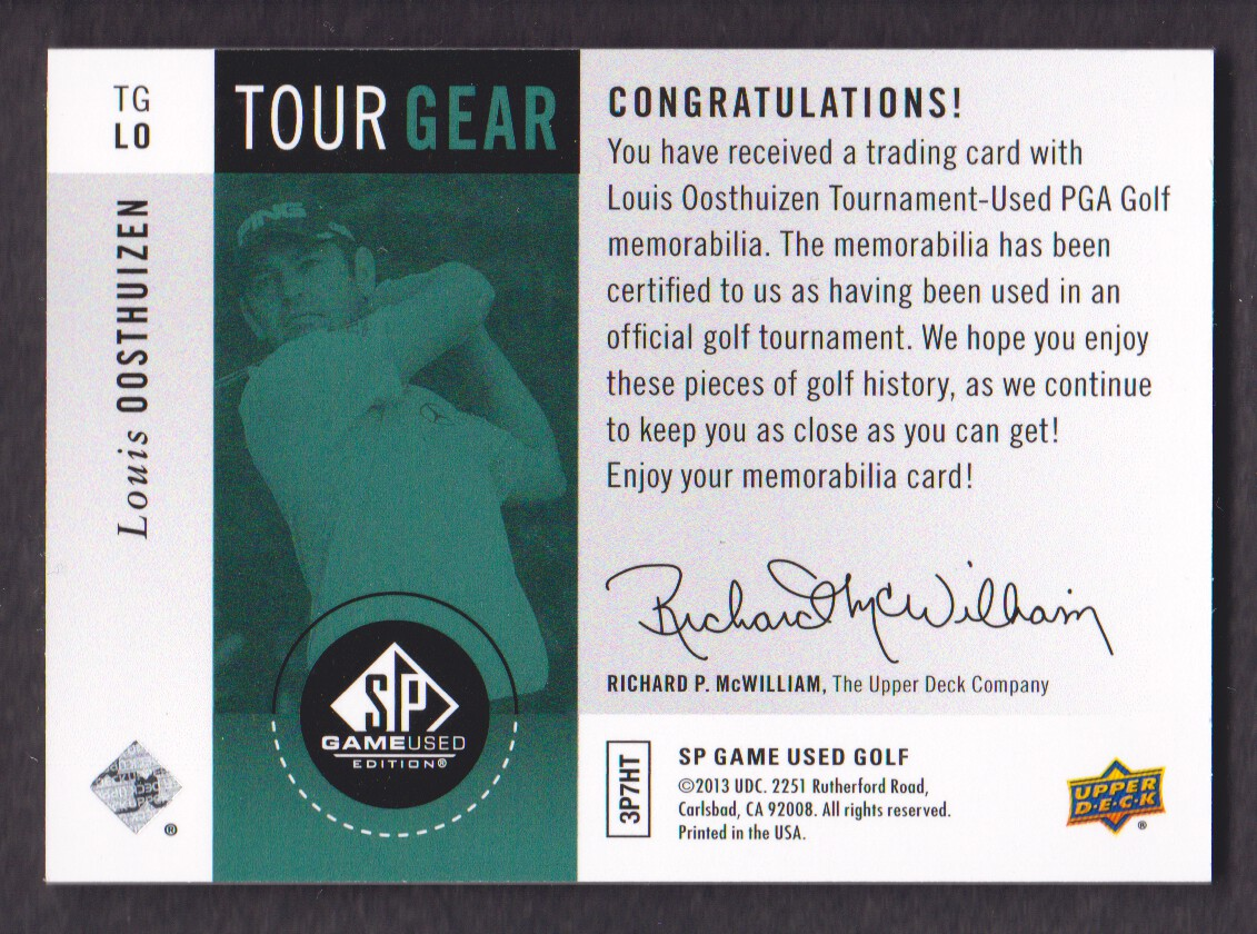 2014-SP-Game-Used-Edition-Golf-Cards-Pick-From-List miniature 181