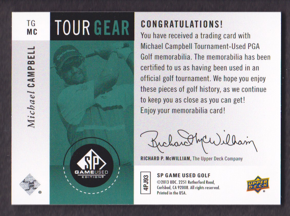 2014-SP-Game-Used-Edition-Golf-Cards-Pick-From-List miniature 183