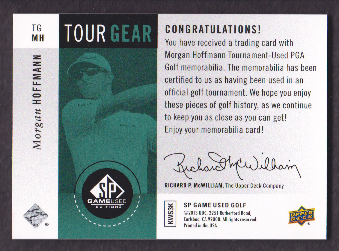 2014-SP-Game-Used-Edition-Golf-Cards-Pick-From-List miniature 185