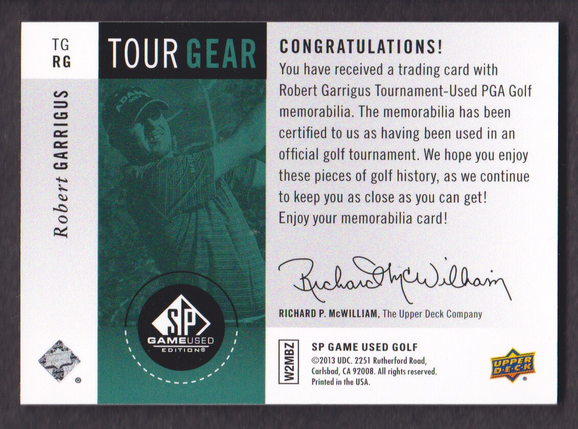 2014-SP-Game-Used-Edition-Golf-Cards-Pick-From-List miniature 187