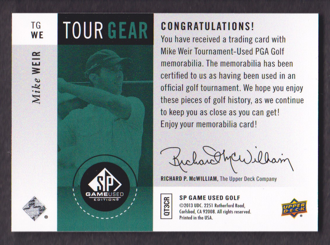 2014-SP-Game-Used-Edition-Golf-Cards-Pick-From-List miniature 189