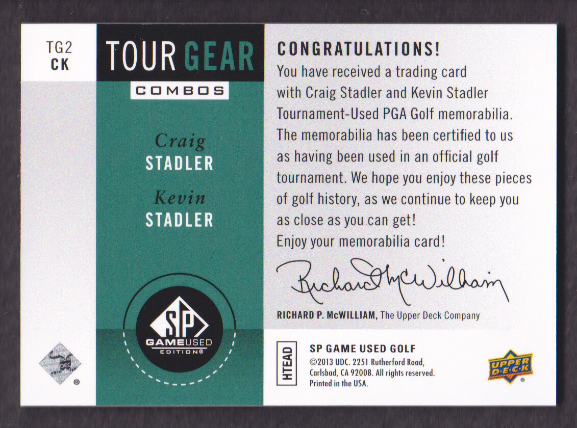 2014-SP-Game-Used-Edition-Golf-Cards-Pick-From-List miniature 193