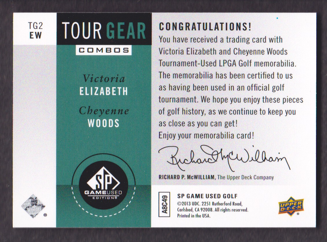 2014-SP-Game-Used-Edition-Golf-Cards-Pick-From-List miniature 195