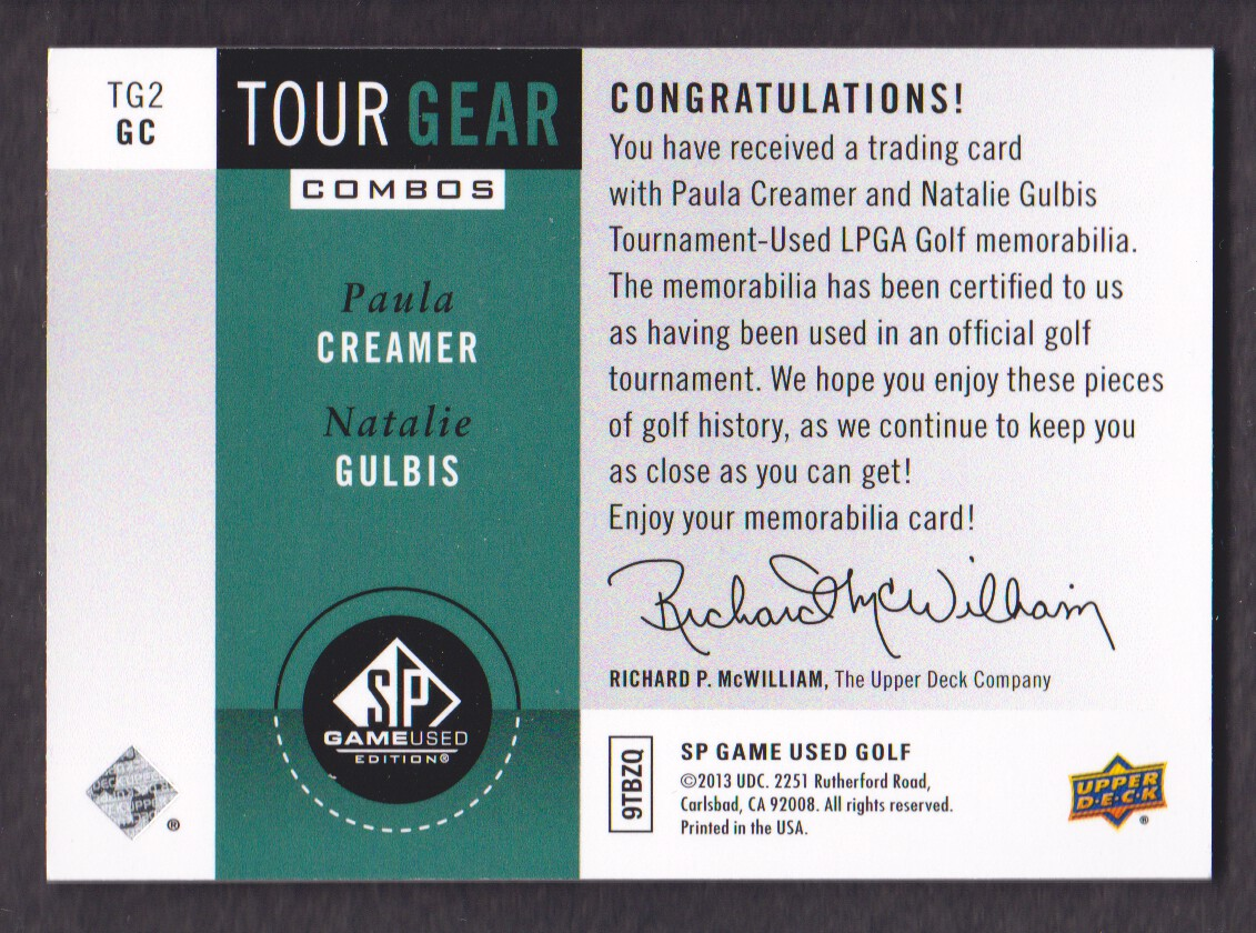 2014-SP-Game-Used-Edition-Golf-Cards-Pick-From-List miniature 199