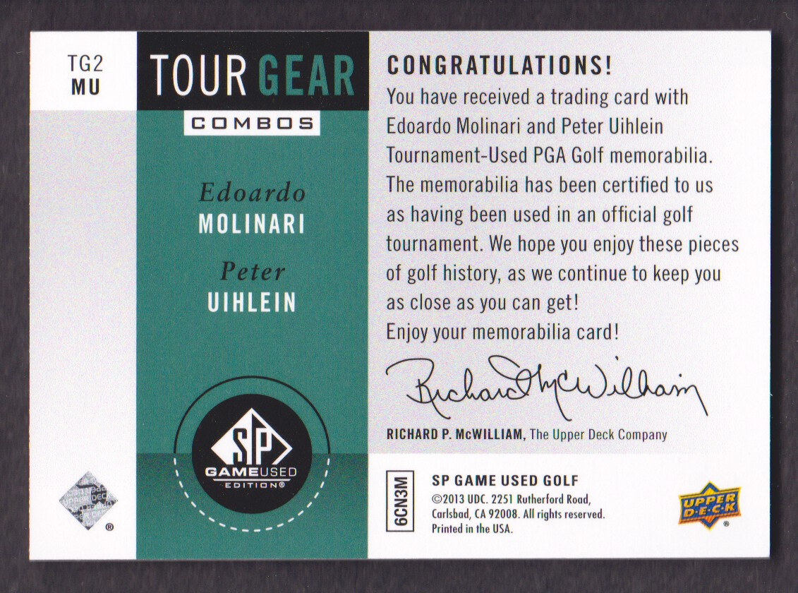 2014-SP-Game-Used-Edition-Golf-Cards-Pick-From-List miniature 203