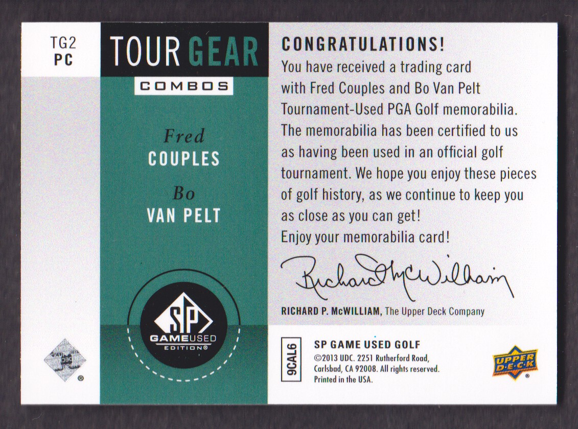 2014-SP-Game-Used-Edition-Golf-Cards-Pick-From-List miniature 205