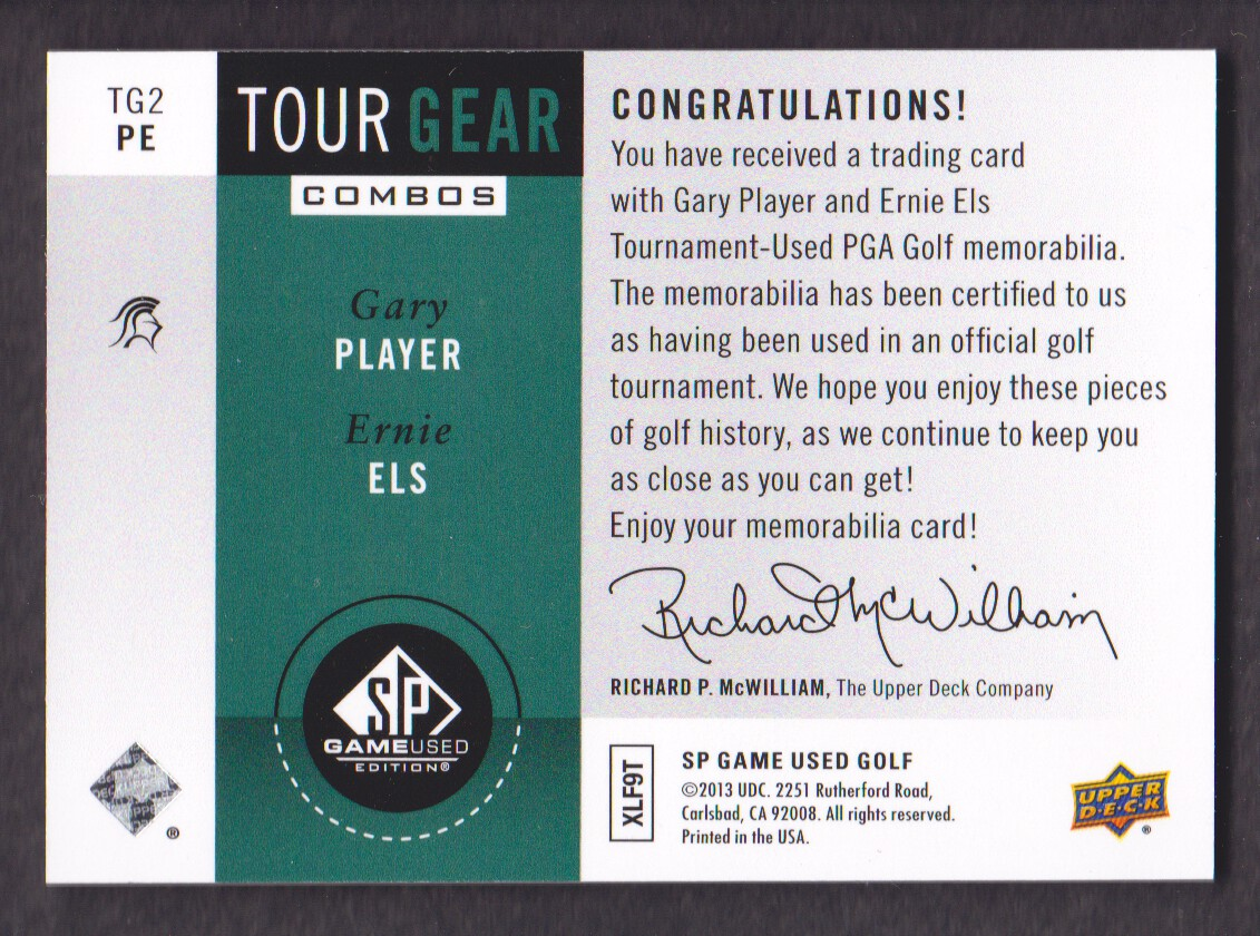 2014-SP-Game-Used-Edition-Golf-Cards-Pick-From-List miniature 207
