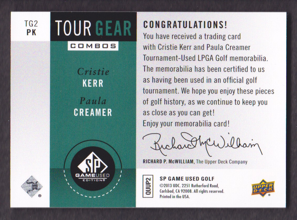 2014-SP-Game-Used-Edition-Golf-Cards-Pick-From-List miniature 209