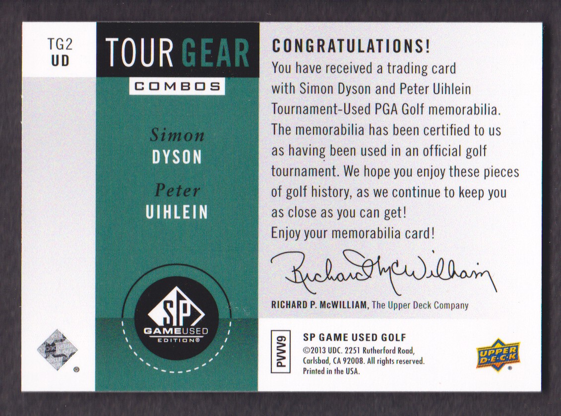 2014-SP-Game-Used-Edition-Golf-Cards-Pick-From-List miniature 211