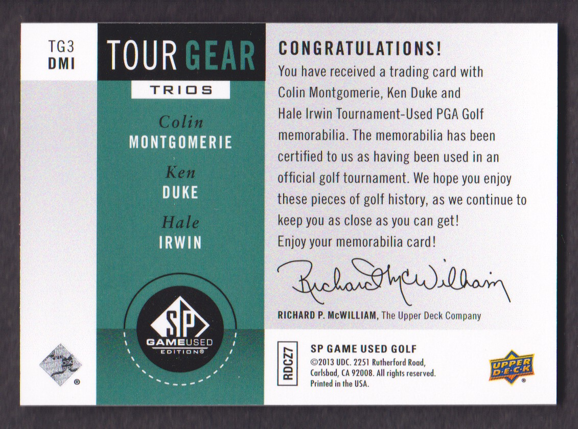 2014-SP-Game-Used-Edition-Golf-Cards-Pick-From-List miniature 217