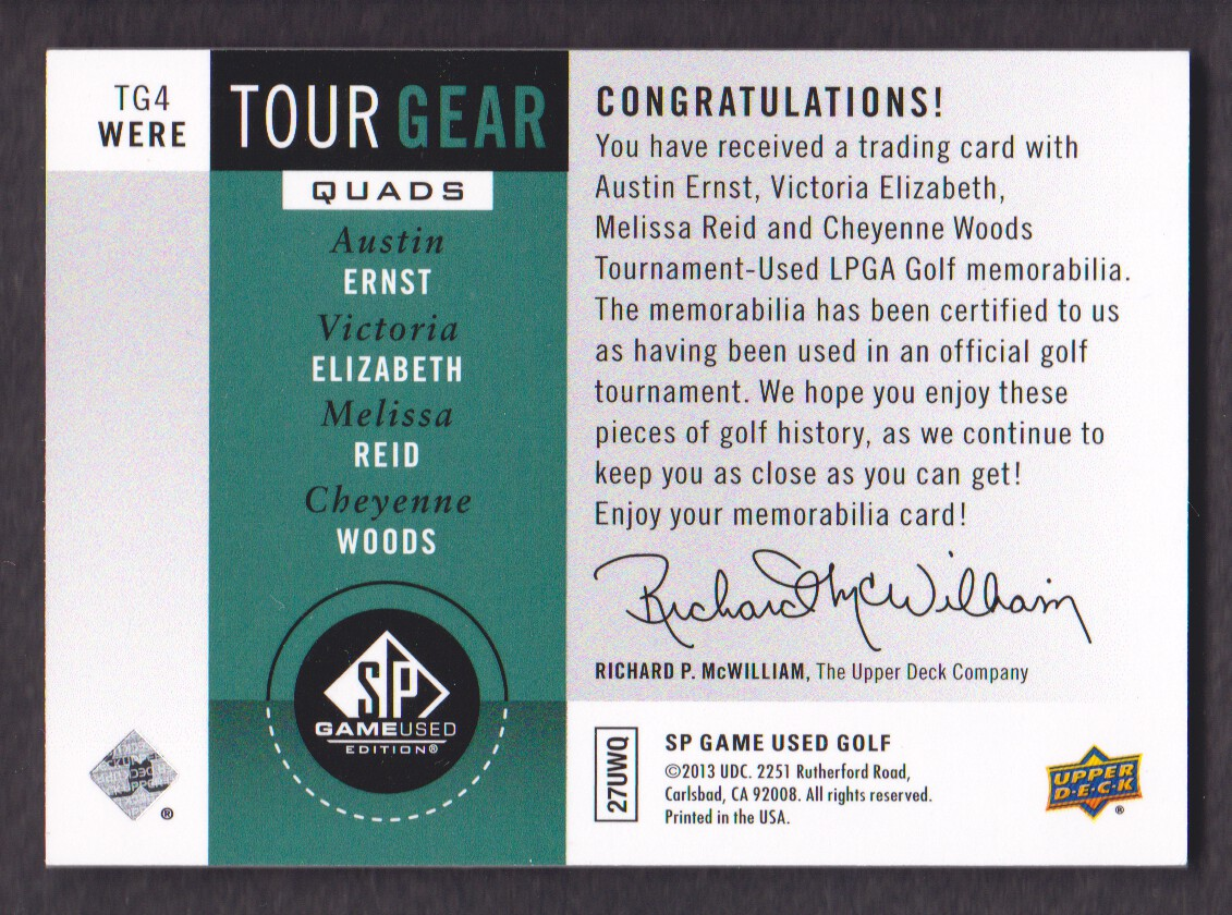 2014-SP-Game-Used-Edition-Golf-Cards-Pick-From-List miniature 215