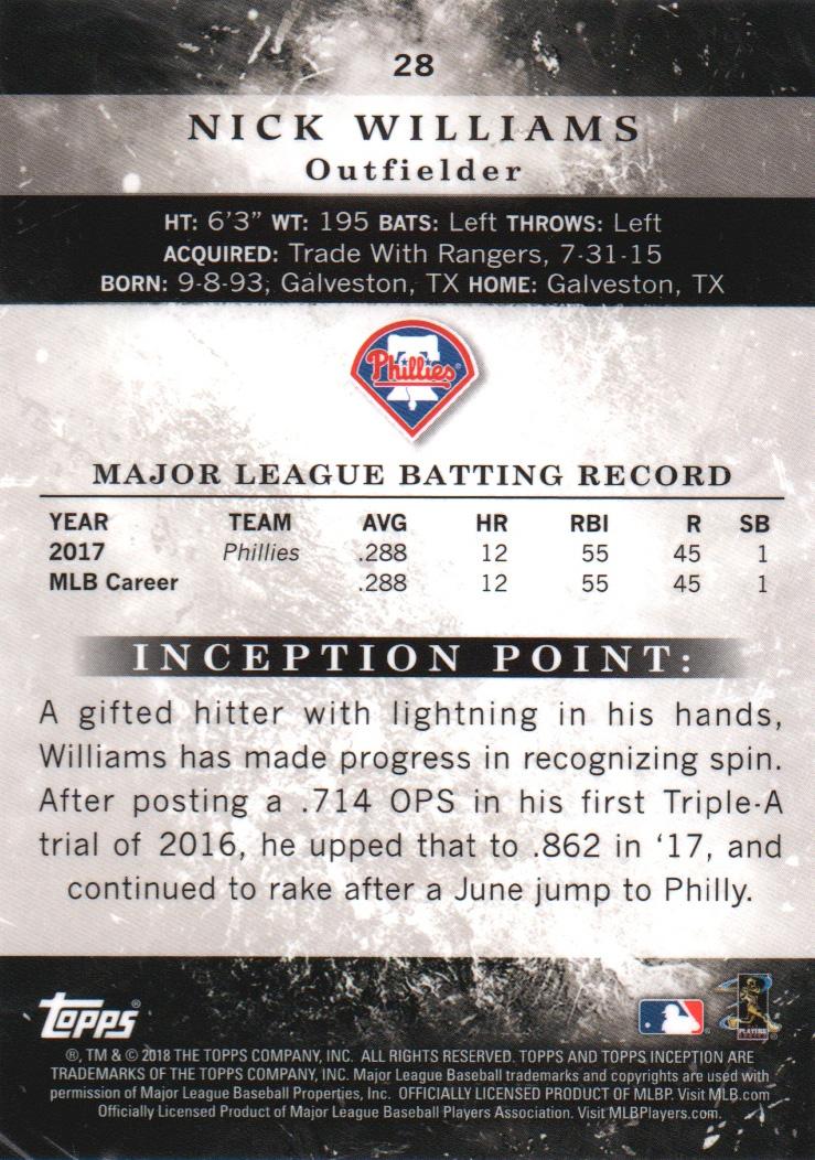 2018-Tarjeta-de-beisbol-Topps-Inception-Pick miniatura 27