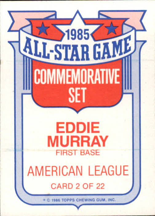 1986-Topps-Glossy-All-Stars-Basebal-Cards-You-Pick-Buy-10-cards-FREE-SHIP miniature 5
