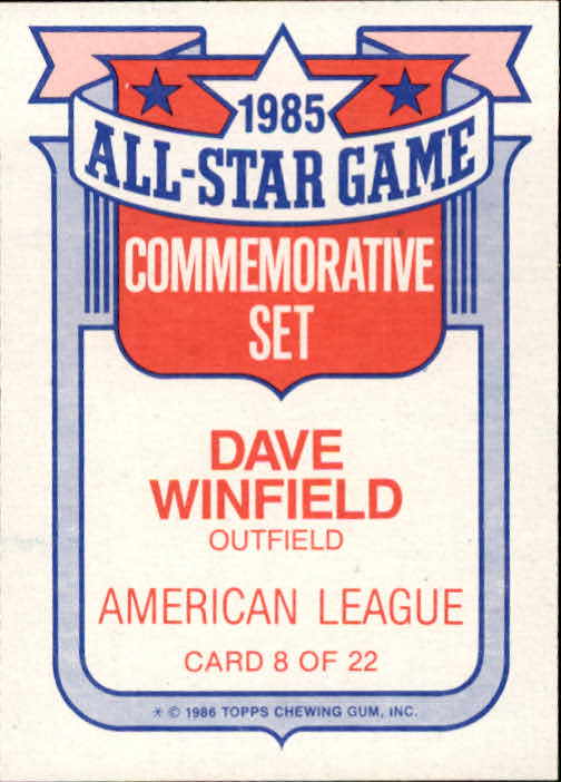 1986-Topps-Glossy-All-Stars-Basebal-Cards-You-Pick-Buy-10-cards-FREE-SHIP miniature 17