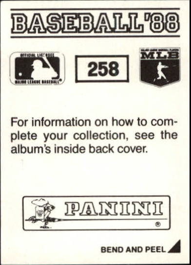thumbnail 15 - 1988 Panini Stickers Baseball Cards 250-480 (A4394) - You Pick - 10+ FREE SHIP