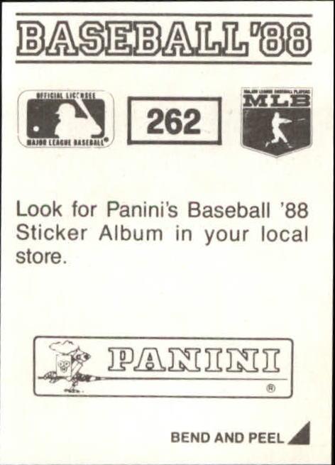 thumbnail 21 - 1988 Panini Stickers Baseball Cards 250-480 (A4394) - You Pick - 10+ FREE SHIP