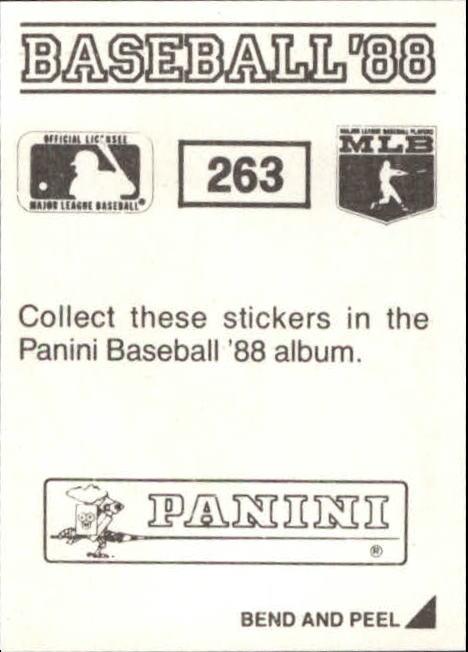 thumbnail 23 - 1988 Panini Stickers Baseball Cards 250-480 (A4394) - You Pick - 10+ FREE SHIP